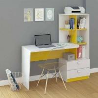 Mẫu bàn học gỗ MDF kèm tủ sách - VH 6